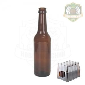 Бутылка пивная коричн 0,33 л. кейс 20 шт