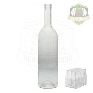 Бутылка «Бордо» бесцветная 0,75 л. упаковка 12 шт