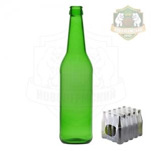 Бутылка пивная зеленая «Лонг Нек» 0,5 л. кейс 20 шт