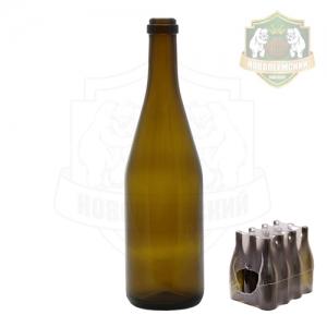Бутылка шампанская темная 0,75 л. упаковка 12 шт