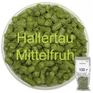 Хмель Халлертау Миттельфрю (Hallertau Mittelfruh) 100 г
