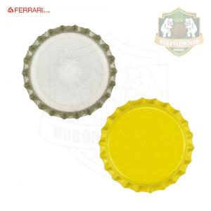Кроненпробки 29 мм, желтый, 10 шт